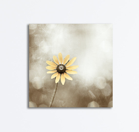 Beige Yellow Nature Canvas by carolyncochrane.com