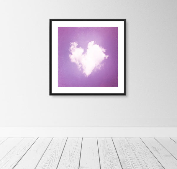 Purple Nursery Heart Art by carolyncochrane.com