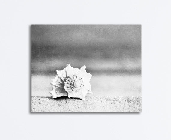 Black and White Beach Photography Canvas by carolyncochrane.com