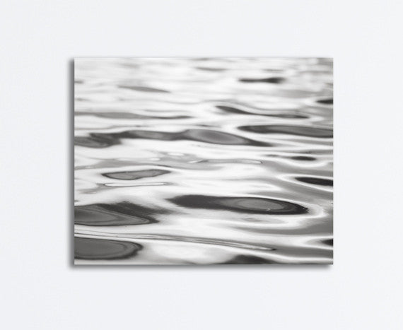 Black and White Water Canvas Art by carolyncochrane.com