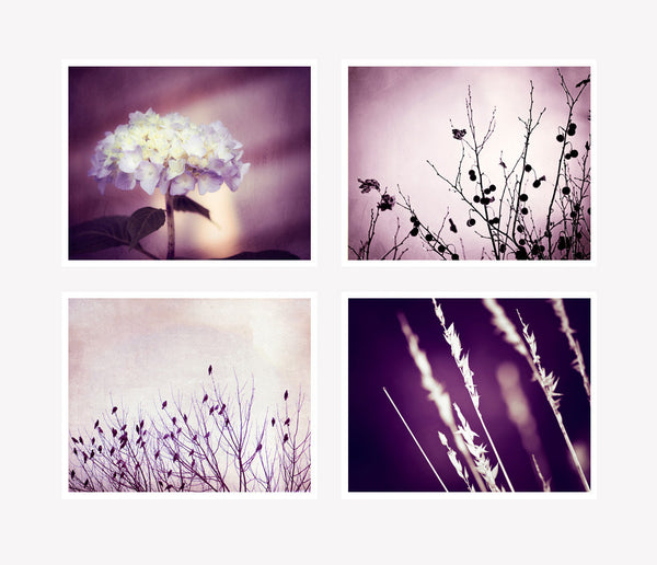 Purple Wall Art Set by carolyncochrane.com