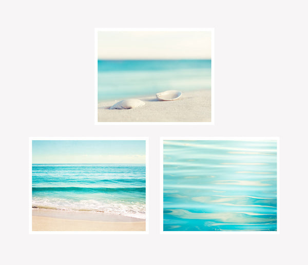 Beach Photographs Art Set by carolyncochrane.com