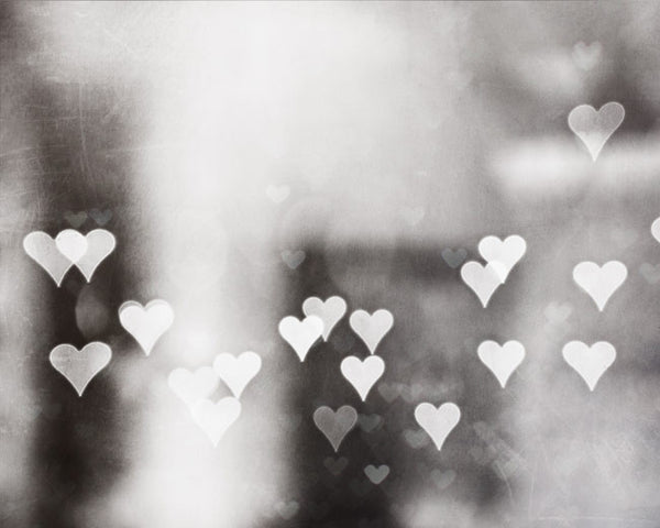 Black and White Abstract Heart Photography by carolyncochrane.com