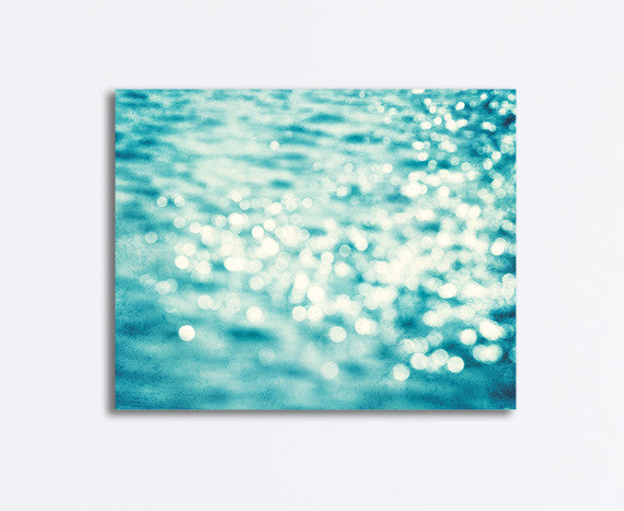Aqua Water Sparkle Canvas by carolyncochrane.com