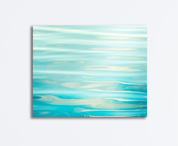 Aqua Ocean Water Canvas by carolyncochrane.com