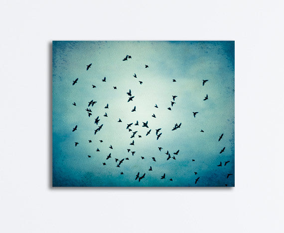 Blue Birds Flying Canvas Art by carolyncochrane.com