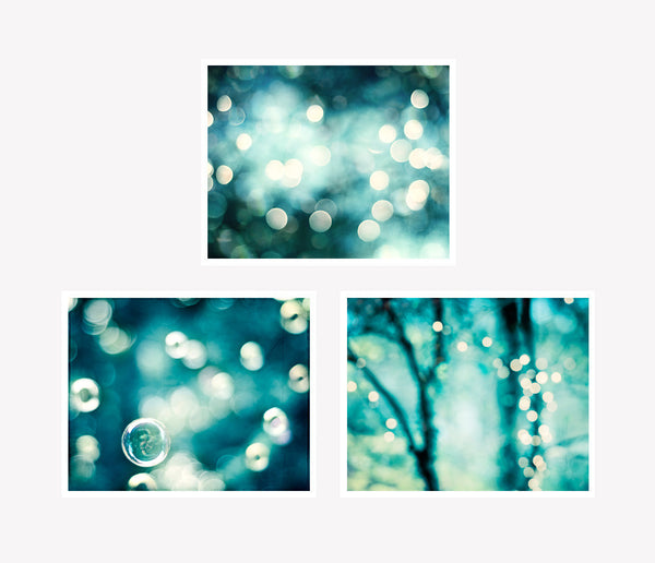 Teal Abstract Sparkle Photography by carolyncochrane.com