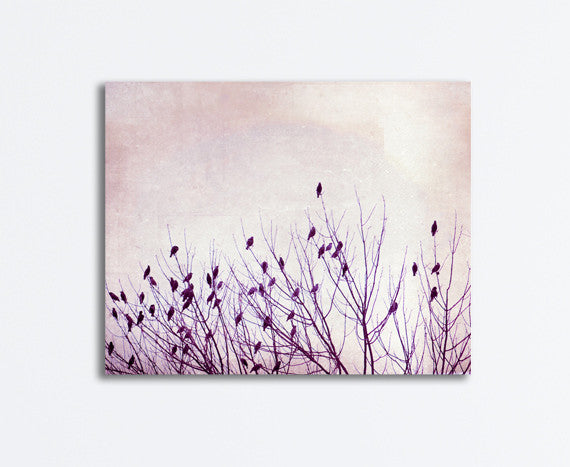 Purple Nursery Bird Canvas Art by carolyncochrane.com