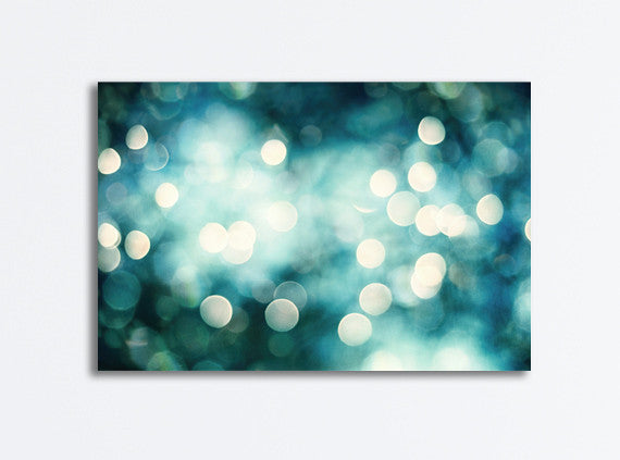 Teal Abstract Lights Canvas by carolyncochrane.com