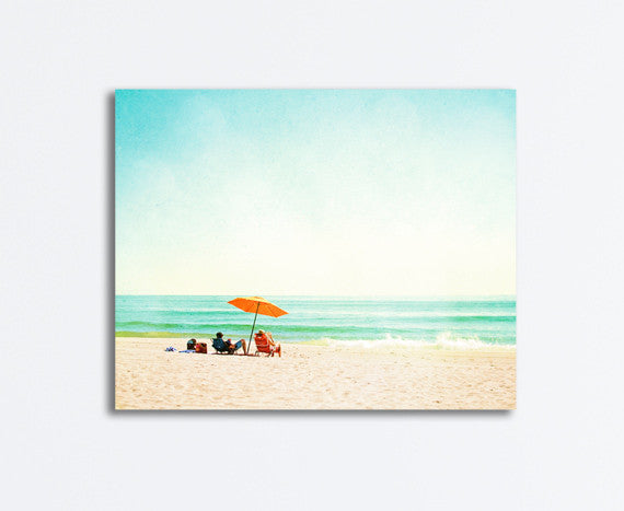 Turquoise Seashore Canvas by carolyncochrane.com