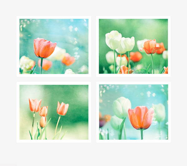 Colorful Tulip Art Set by carolyncochrane.com