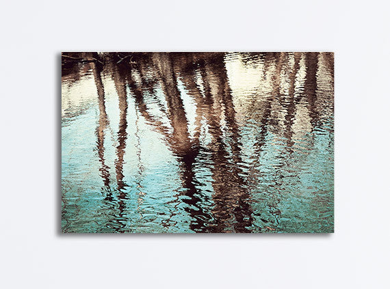 Water Reflection Photography Canvas Art by CarolynCochrane.com | Tree Reflection Picture