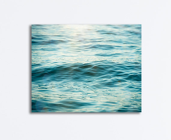 Ocean Water Photography by Carolyn Cochrane | Teal Sea Photo Print