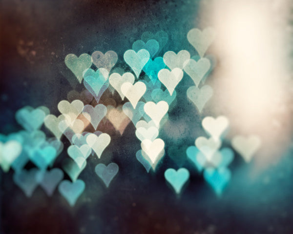 Teal Abstracts Heart Picture by carolyncochrane.com