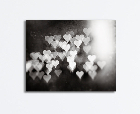 Black and White Hearts Canvas by carolyncochrane.com