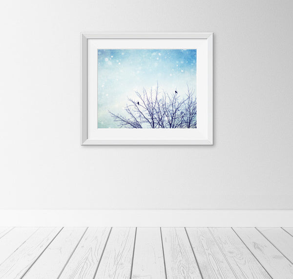 Blue Winter Nature Print by carolyncochrane.com