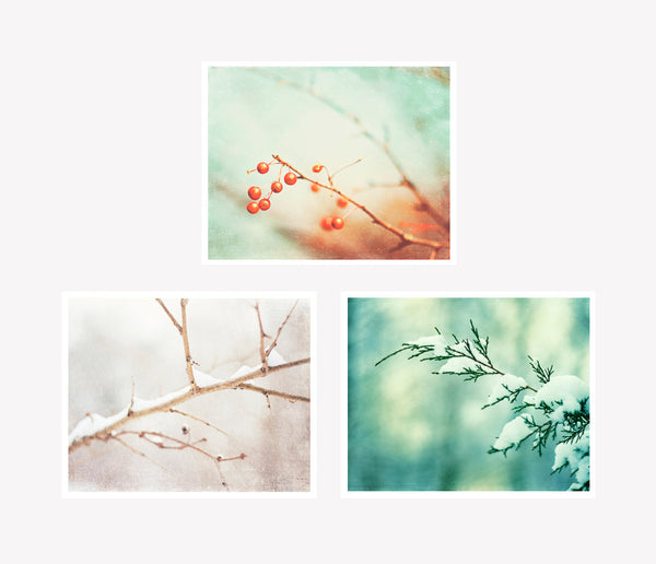 Mint Winter Nature Decor by carolyncochrane.com