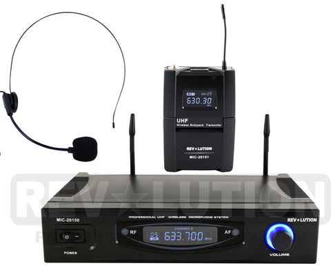 MIC-20151 UHF Wireless Microphone system - REVOLUTIONPRO
