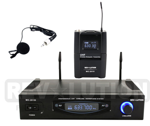 MIC-20152 UHF Wireless Microphone system - REVOLUTIONPRO