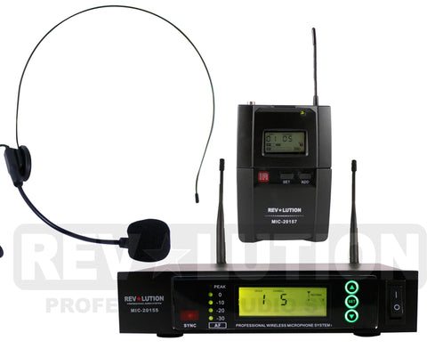 MIC-20156 UHF Wireless Microphone system - REVOLUTIONPRO