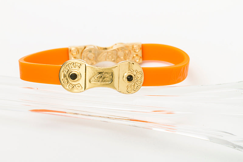 WOMEN'S DANI BIKE LINK ORANGE BRACELET