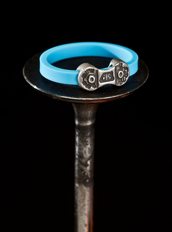 MINI DANI BIKE LINK BLUE RING-SILVER