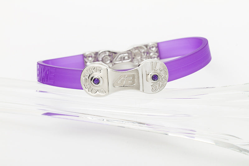WOMEN'S DANI BIKE LINK PURPLE BRACELET