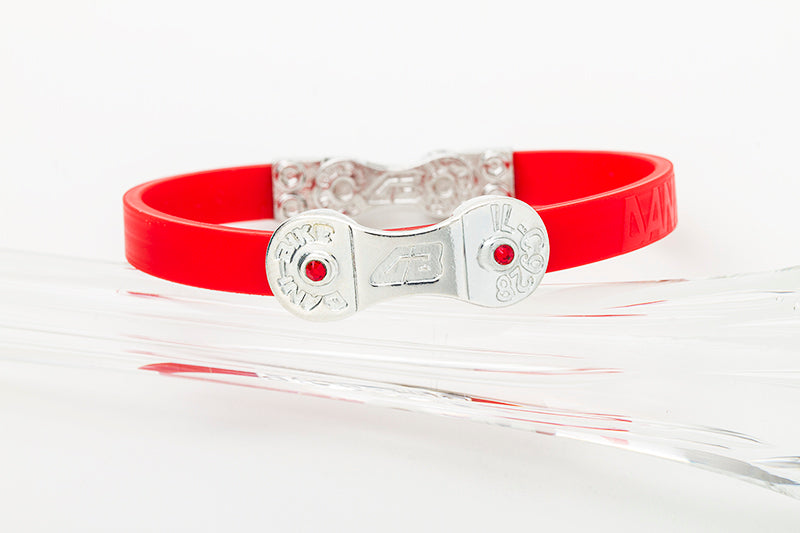 WOMEN'S DANI BIKE LINK RED BRACELET