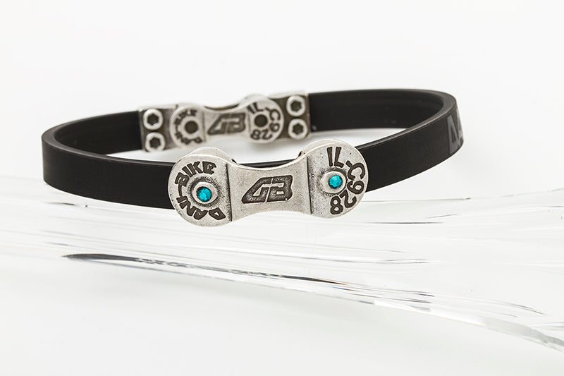 WOMEN'S DANI BIKE LINK BLACK BRACELET