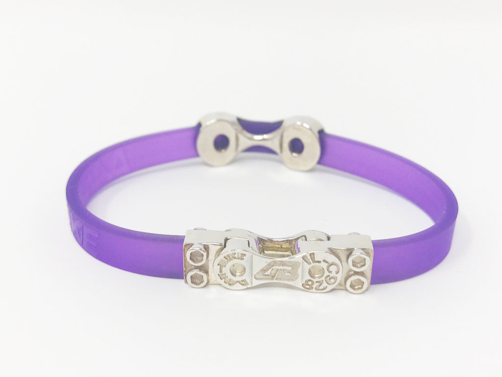 WOMEN'S DANI BIKE LINK PURPLE BRACELET-SILVER