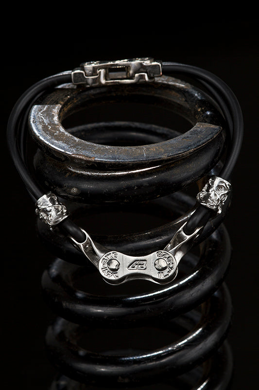 LINKED ON DANI BIKE BRACELET-SILVER