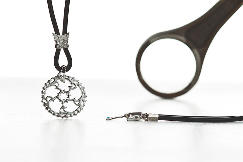 DISC BRAKE LIGHTENING NECKLACE-SILVER