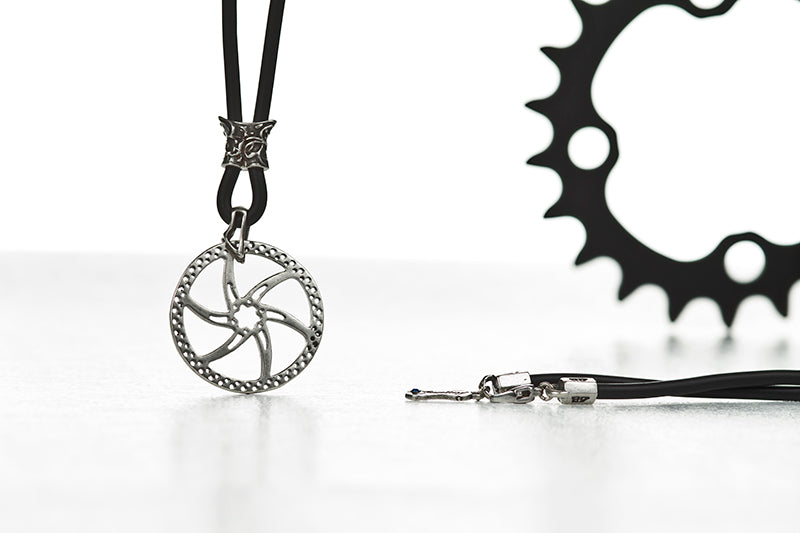 DISC BRAKE NECKLACE-SILVER
