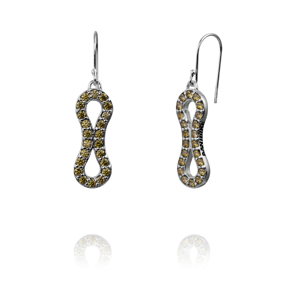 GALA LINK EARRINGS-SILVER