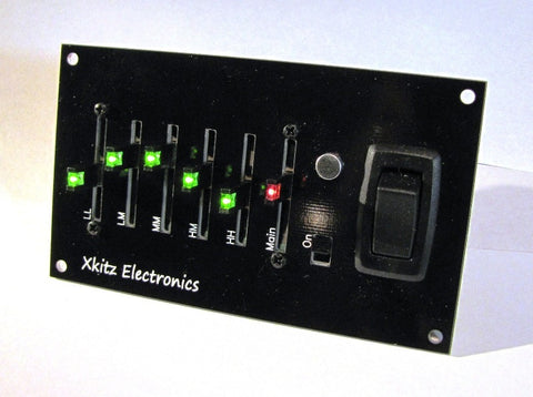 Xkitz XLO-5CP, 5 Channel Light Organ Control Panel