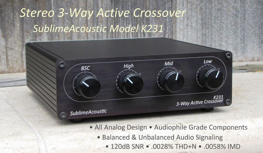 K231 Stereo 3-Way Active Crossover