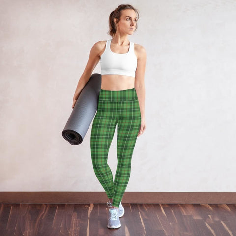 Clan Blane Tartan Yoga Leggings - XS