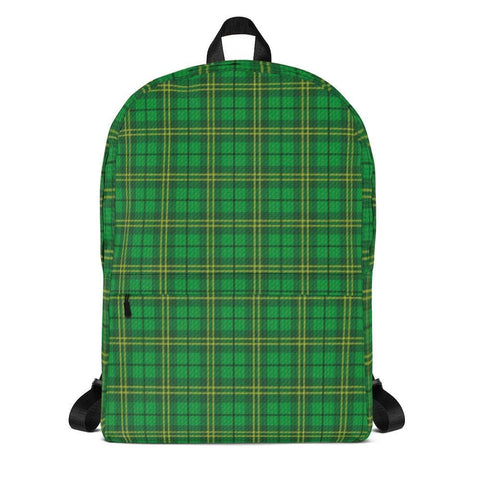 Irish Green Tartan Backpack