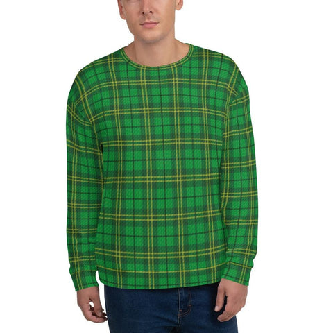 Irish Green Tartan Unisex Sweatshirt - XS