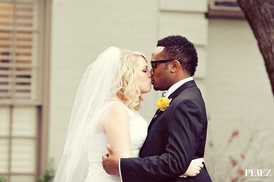 Interracial Dallas Wedding Bride Groom