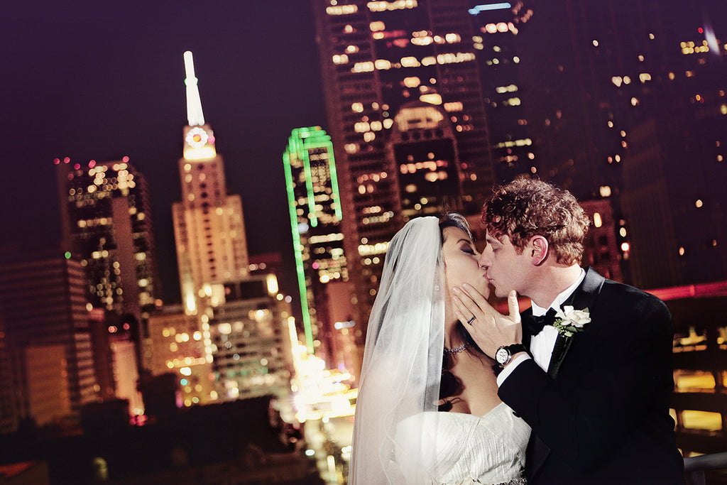skyline wedding dallas tx kissing city weddings