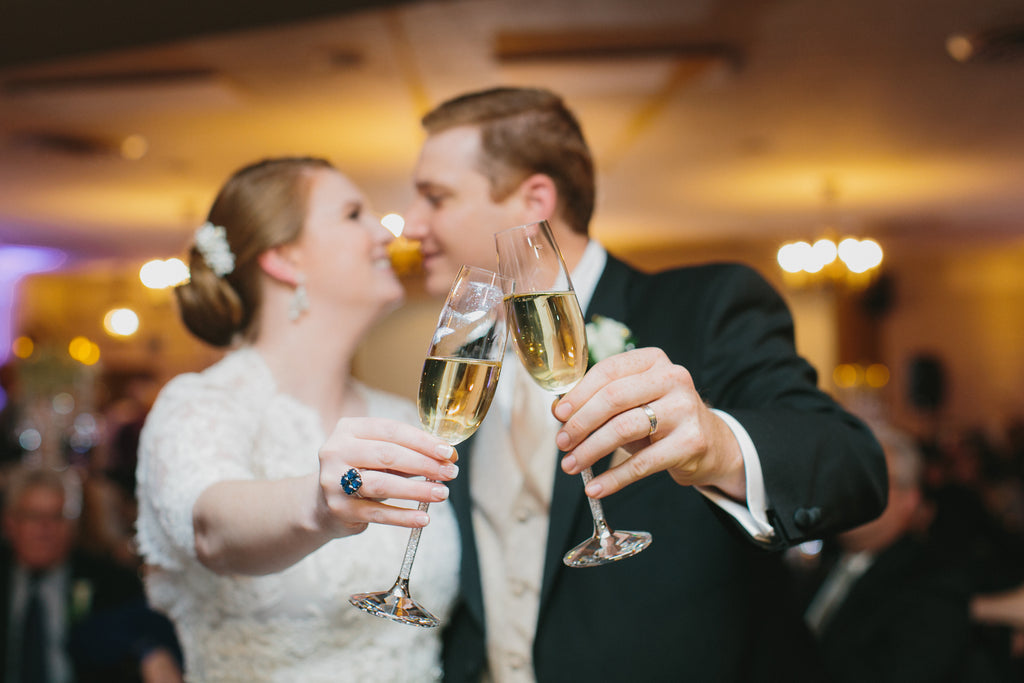 champagne toast weddings bride groom happy