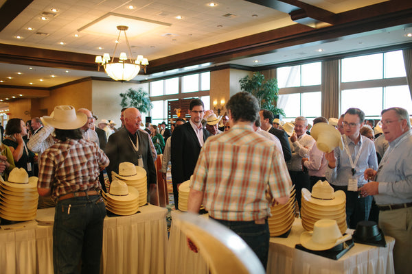 Corporate Event with Cowboy Hat Favors