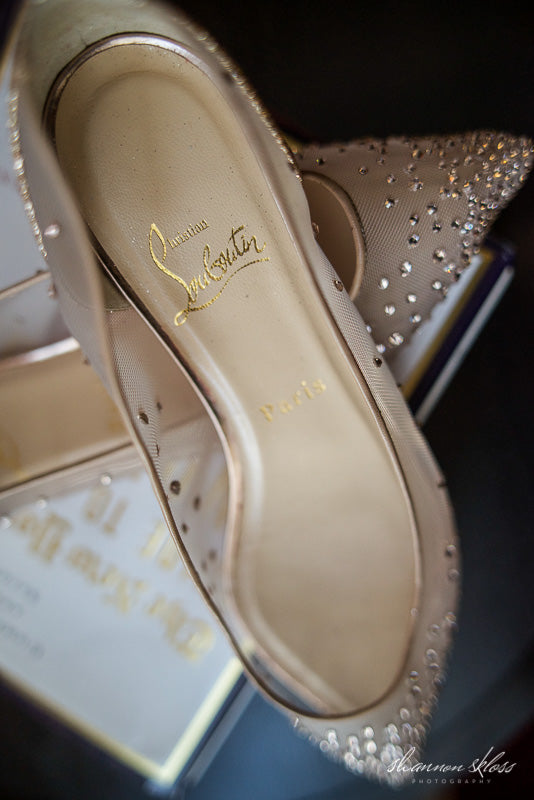 Louboutin Wedding Shoes Designer Crystals