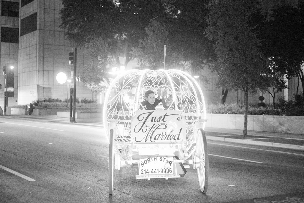Horse Carriage ride for grand exit from wedding reception