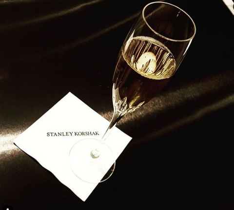 Glass of champagne at Stanley Korshack