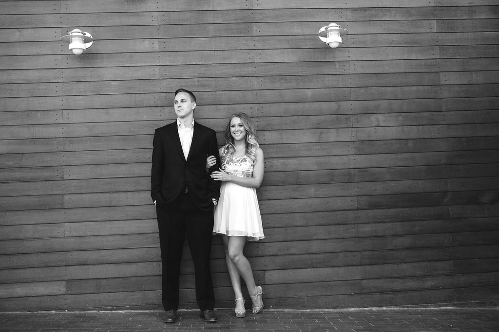 Classic Black and White Engagements