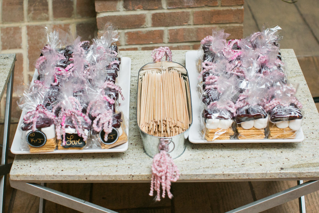 Smores Station, Wedding Favors, Wedding Reception