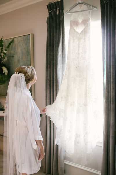 Lace Wedding Gown, White Veil