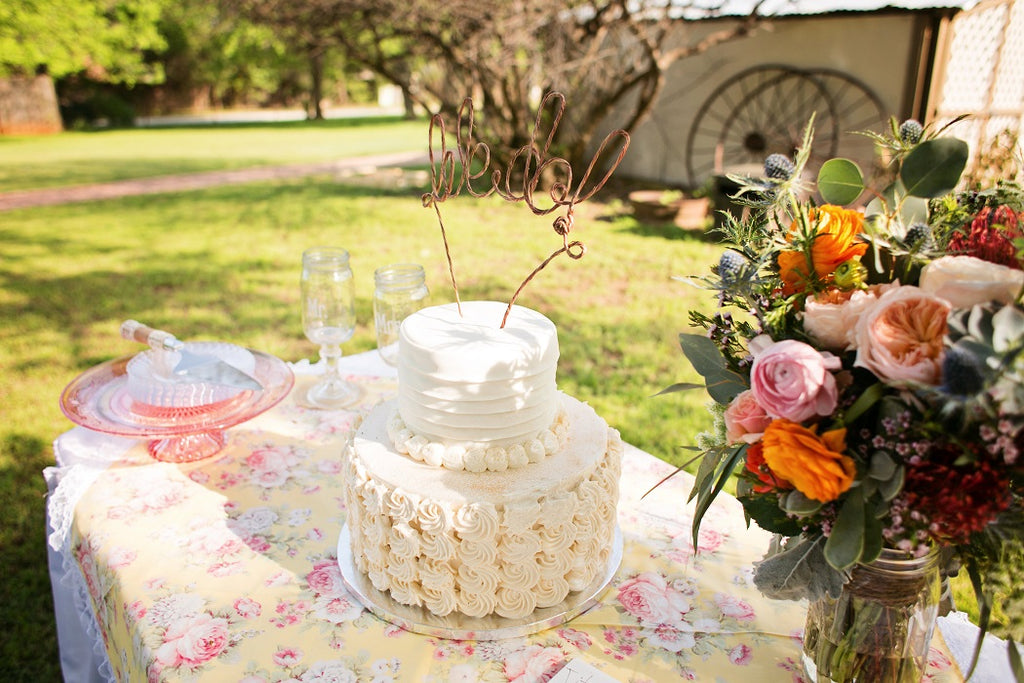 Wedding Cake, Cake Stands, Floral Linens